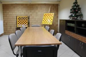 Pomieszczenie, gdzie odbywają się zajęcia szachowe